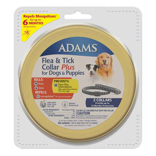 View larger image of Adams Flea & Tick Collar Plus for Dogs and Puppies