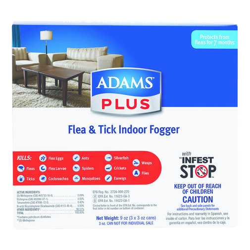 View larger image of Adams Plus Flea & Tick Indoor Fogger