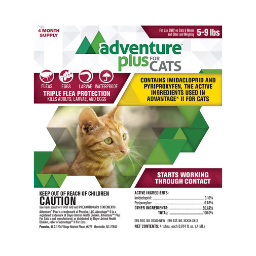 View larger image of Adventure Plus Flea Protection for Cats