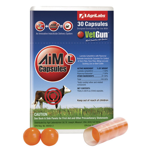 View larger image of AiM-L VetCaps Cattle Insecticide Capsules for VetGun