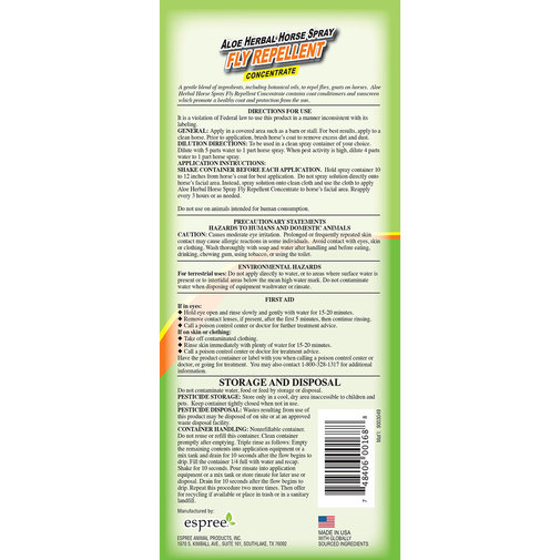 View larger image of Aloe Herbal Horse Spray Fly Repellent Concentrate