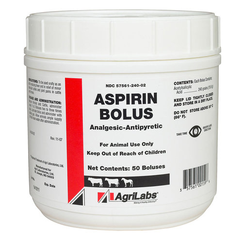 View larger image of Aspirin Boluses for Cattle and Horses