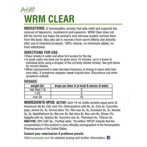 View larger image of Avian WRM Clear