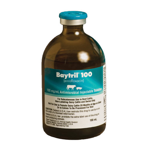 View larger image of Baytril 100 Injectable Rx
