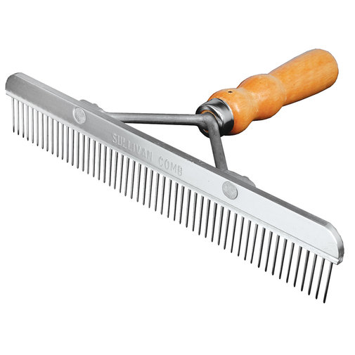 View larger image of Blunt Tooth Comb with Wood Handle
