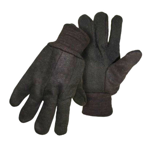 View larger image of BOSS Brown Jersey PVC Dot Gloves