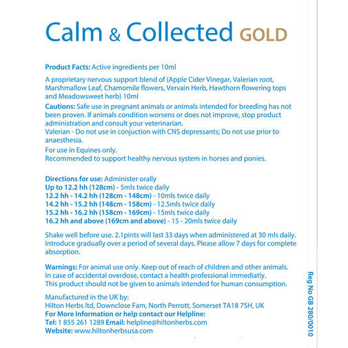 View larger image of Calm & Collected GOLD Horse Supplement