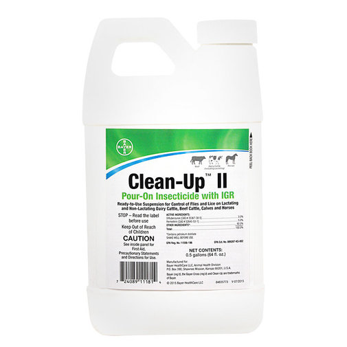View larger image of Clean-Up II Pour-On Insecticide for Cattle and Horses