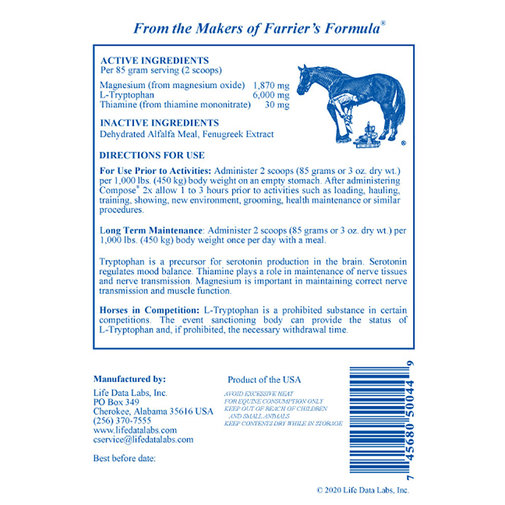 View larger image of Compose 2x Pelleted Calming Horse Supplement