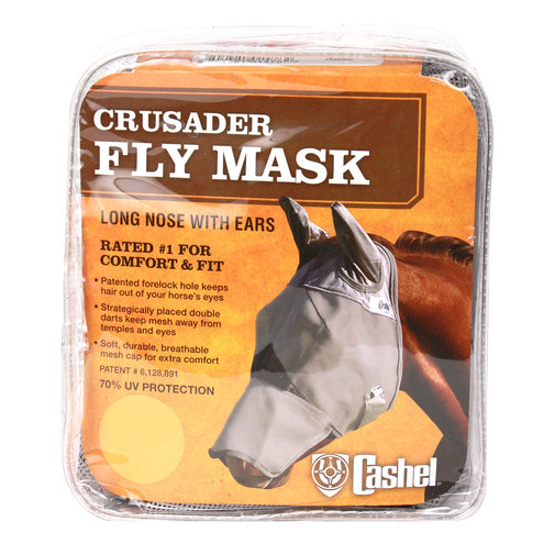 View larger image of Crusader Long Nose Pasture Fly Mask with Ears