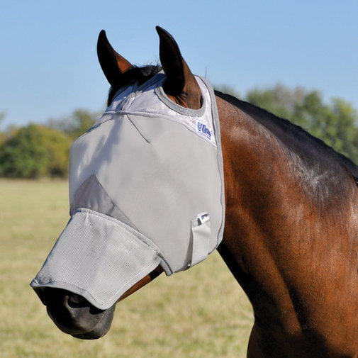 View larger image of Crusader Long Nose Pasture Fly Mask without Ears