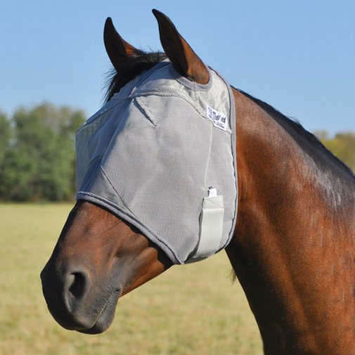 View larger image of Crusader Standard Nose Pasture Fly Mask without Ears