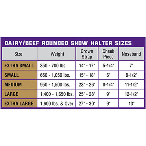 View larger image of Dairy and Beef Rounded Show Halter