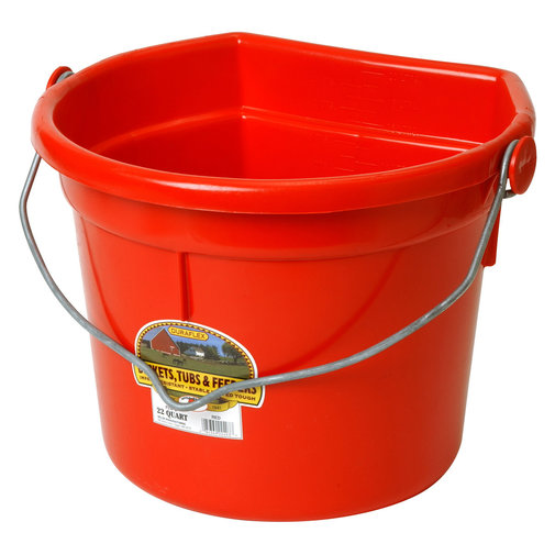 View larger image of DuraFlex Plastic Flatback Bucket