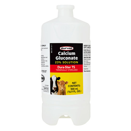 View larger image of Calcium Gluconate 23% Solution for Cattle