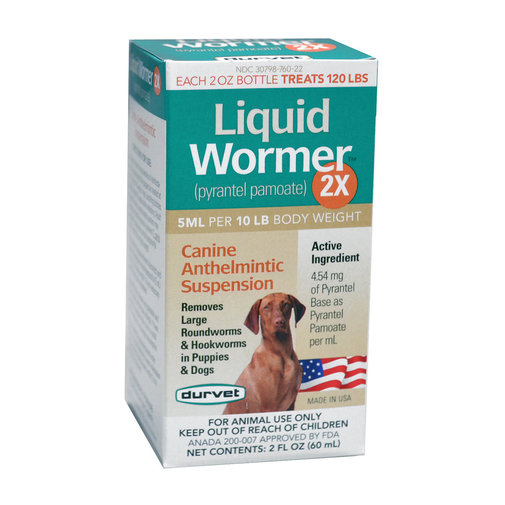 View larger image of Durvet Liquid Wormer 2X Dog Dewormer