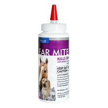 Ear Mite Killer Lotion for Dogs, Cats and Horses