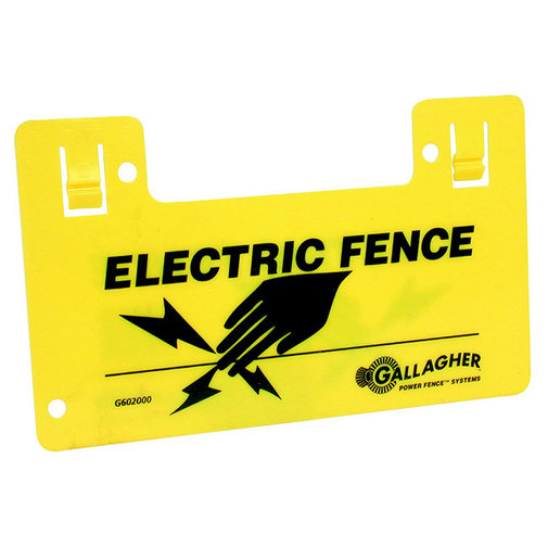 View larger image of Electric Fence Clip-On Warning Sign