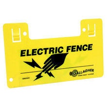 Electric Fence Clip-On Warning Sign