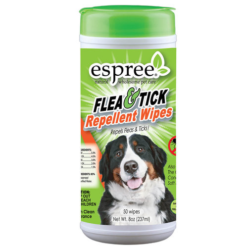 View larger image of Espree Flea & Tick Repellent Wipes for Dogs and Cats