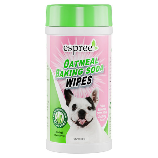 View larger image of Espree Oatmeal & Baking Soda Wipes for Dogs and Cats