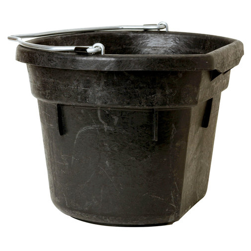 View larger image of Flat Back Rubber Bucket