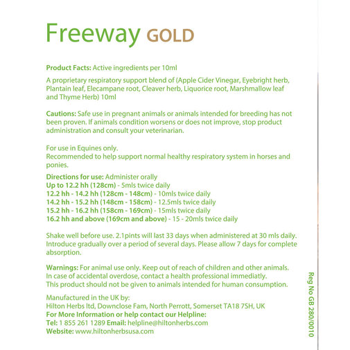 View larger image of Freeway GOLD Horse Supplement