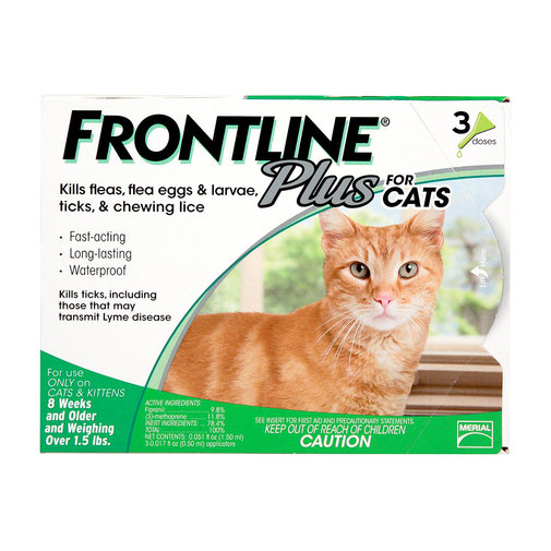 View larger image of Frontline Plus Flea and Tick Spot-On for Cats