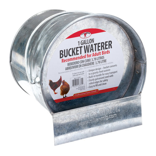 View larger image of Galvanized Bucket Poultry Waterer