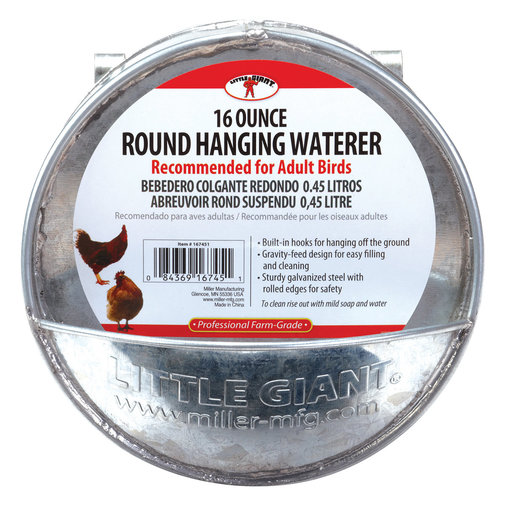 View larger image of Galvanized Round Hanging Poultry Waterer