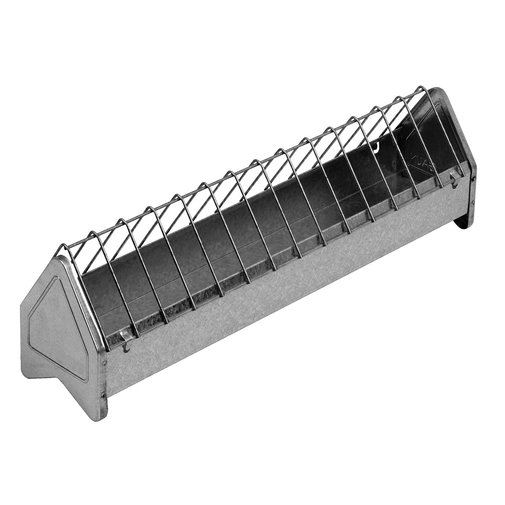 View larger image of Galvanized Trough Poultry Feeder with Grate