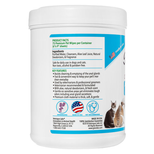 View larger image of Glandex Anal Gland Hygienic Pet Wipes