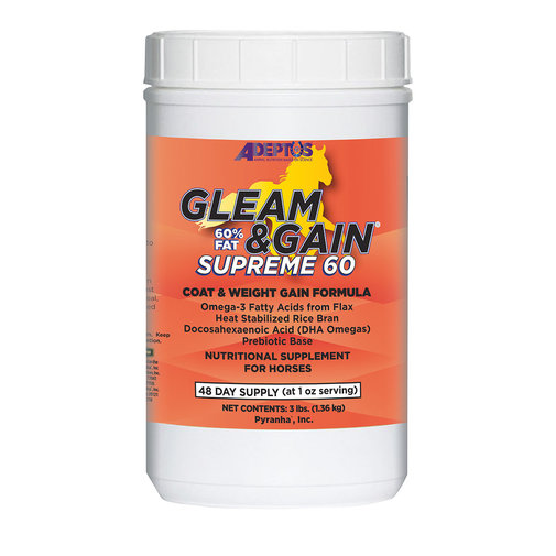 View larger image of Gleam & Gain Supreme 60 Nutritional Supplement for Horses