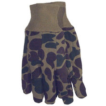 Green Camo Jersey Gloves