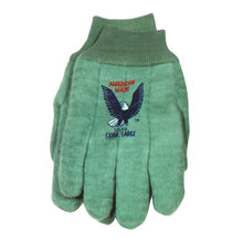 Green Fleece Gloves