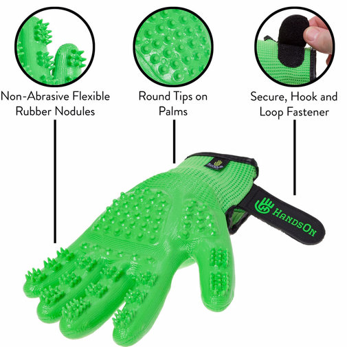 View larger image of HandsOn Shedding, Bathing and Grooming Gloves