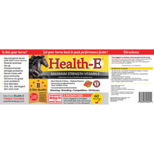 View larger image of Health-E Maximum Strength Vitamin E Horse Supplement
