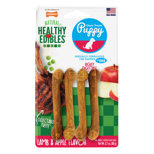 View larger image of Healthy Edibles Lamb & Apple Puppy Chew Treats