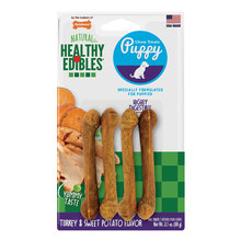 Healthy Edibles Sweet Potato & Turkey Puppy Chew Treats