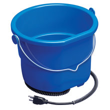 Heated Flat Back Resilient Plastic Bucket