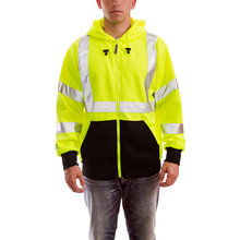 Job Sight High-Visibility Zip-Up Hoodie