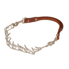 Leather Goat Collar with Prongs