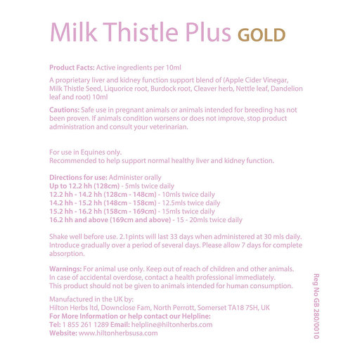 View larger image of Milk Thistle Plus GOLD Horse Supplement