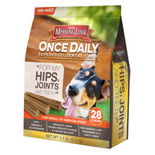 Missing Link Once Daily Hip & Joint Dental Chew for Dogs
