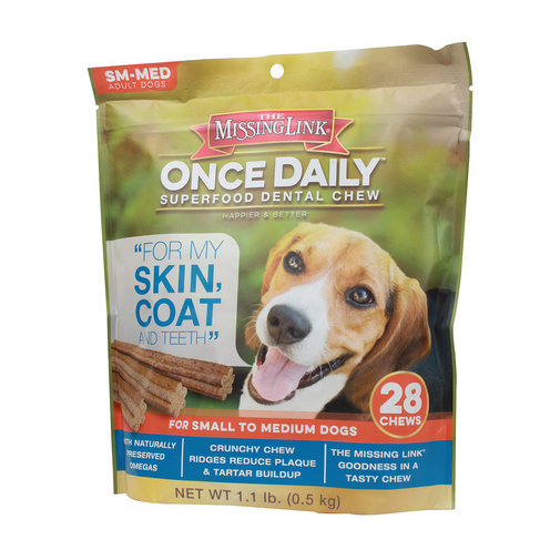 View larger image of Missing Link Once Daily Skin & Coat Dental Chew for Dogs