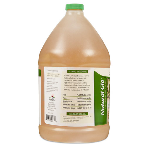 View larger image of Natural Glo Rice Bran Oil Horse Supplement