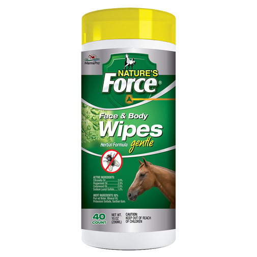 View larger image of Nature's Force Face and Body Wipes for Horses