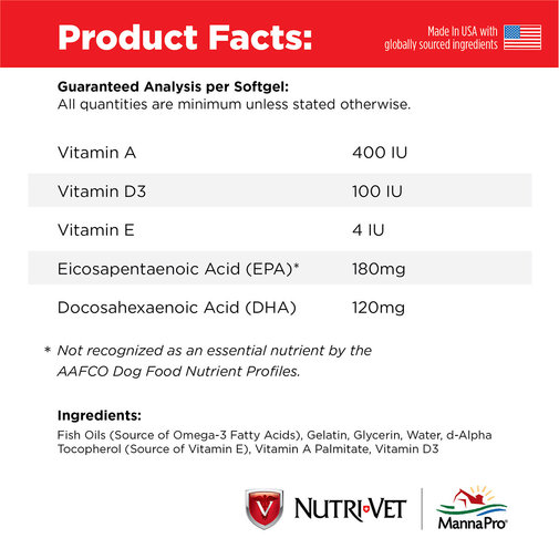 View larger image of Nutri-Vet Fish Oil Softgels for Dogs