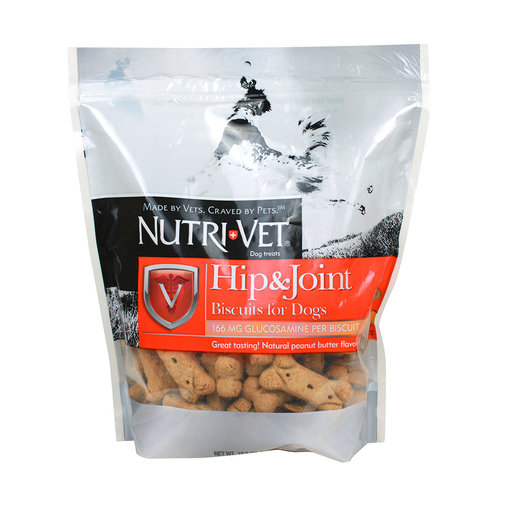 View larger image of Nutri-Vet Regular Strength Hip & Joint Biscuits for Dogs