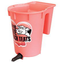 Peach Teats Single Calf Feeder